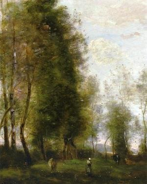 Jean-Baptiste-Camille Corot - A Shady Resting Place (or Le Dormoir)