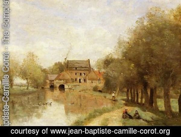 Jean-Baptiste-Camille Corot - Arleux-du-Nord, the Drocourt Mill, on the Sensee
