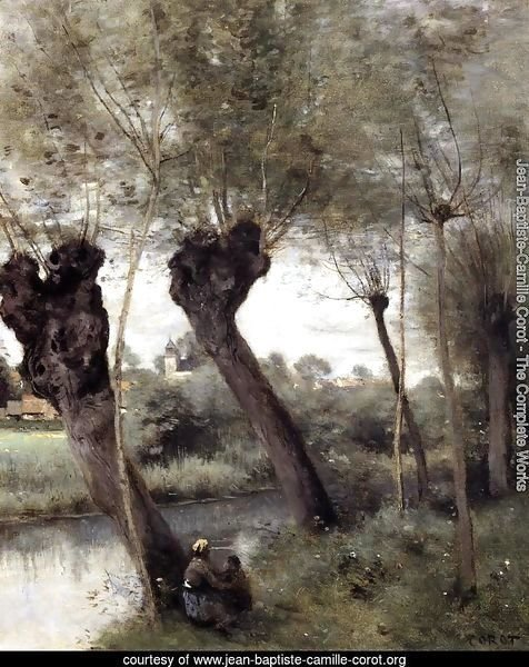 Saint-Nicholas-les-Arras; Willows on the Banks of the Scarpe