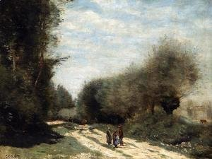 Jean-Baptiste-Camille Corot - Crecy-en-Brie - Road in the Country