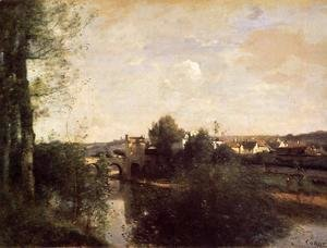 Jean-Baptiste-Camille Corot - Old Bridge at Limay, on the Seine