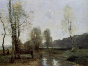 Jean-Baptiste-Camille Corot - Canal in Picardi