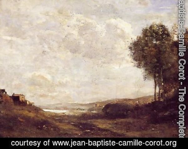 Jean-Baptiste-Camille Corot - Landscape by the Lake