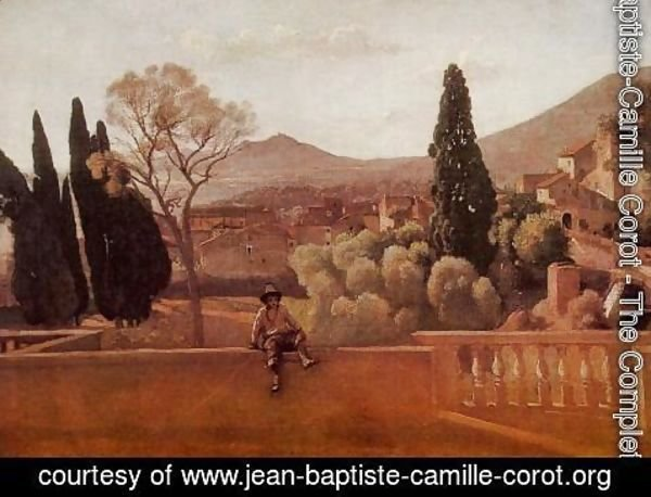 Jean-Baptiste-Camille Corot - Gardens of the Villa d'Este at Tivoli