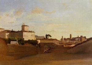 Jean-Baptiste-Camille Corot - View of Pincio, Italy