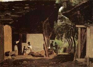 Jean-Baptiste-Camille Corot - Entrance to a Chalet in the Bernese Oberland