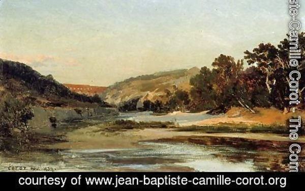 Jean-Baptiste-Camille Corot - The Aqueduct in the Valley
