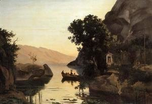 Jean-Baptiste-Camille Corot - View at Riva, Italian Tyrol