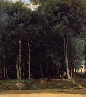 Jean-Baptiste-Camille Corot - Fontainebleau, the Bas-Breau Road