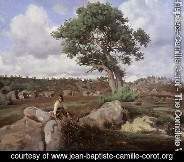 Jean-Baptiste-Camille Corot - Fontainebleau, 'The Raging One'