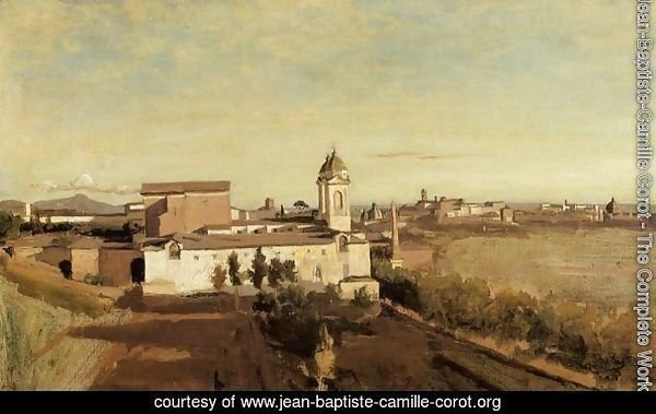 Rome, the Trinita dei Monti - View from the Villa Medici