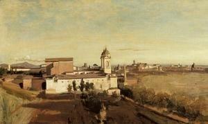 Jean-Baptiste-Camille Corot - Rome, the Trinita dei Monti - View from the Villa Medici