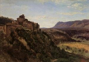 Jean-Baptiste-Camille Corot - Papigno - Buildings Overlooking the Valley