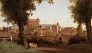 Jean-Baptiste-Camille Corot - Rome - View from the Farnese Gardens, Morning