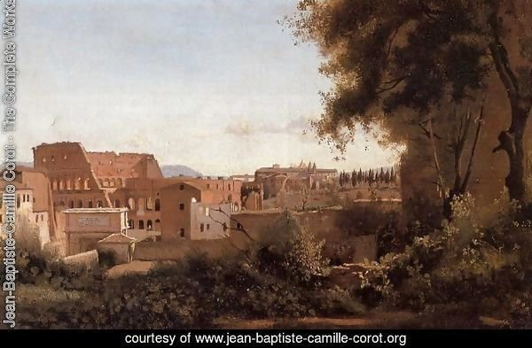 Rome - View from the Farnese Gardens, Noon (or Study of the Coliseum)