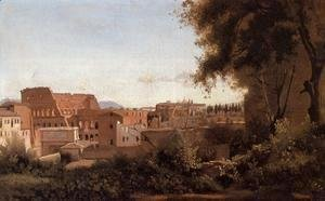 Jean-Baptiste-Camille Corot - Rome - View from the Farnese Gardens, Noon (or Study of the Coliseum)