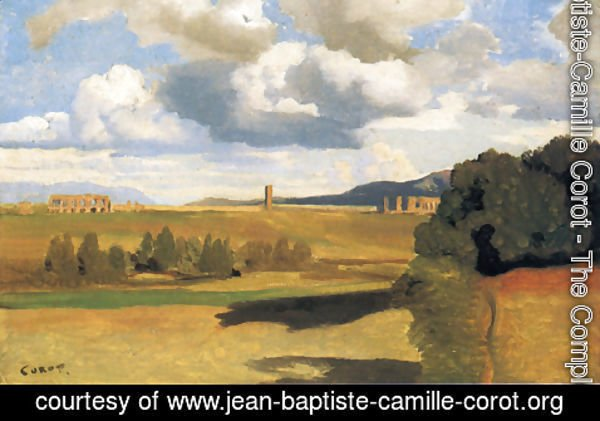 Jean-Baptiste-Camille Corot - The Roman Campagna with the Claudian Aqueduct