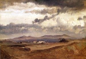 Jean-Baptiste-Camille Corot - View of the Roman Campagna