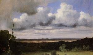 Jean-Baptiste-Camille Corot - Fontainebleau, Storm over the Plains