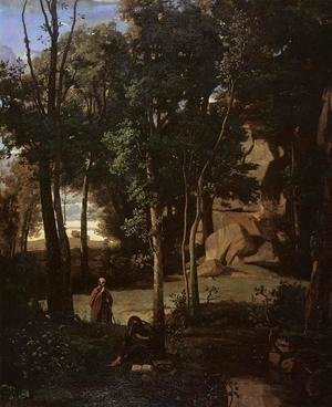 Jean-Baptiste-Camille Corot - Democritus and the Abderiti