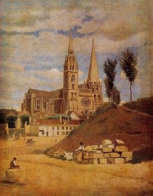 Jean-Baptiste-Camille Corot - Chartres Cathedral, 1830