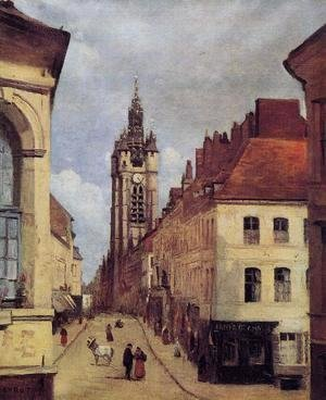 Jean-Baptiste-Camille Corot - The Belfry of Douai, 1871