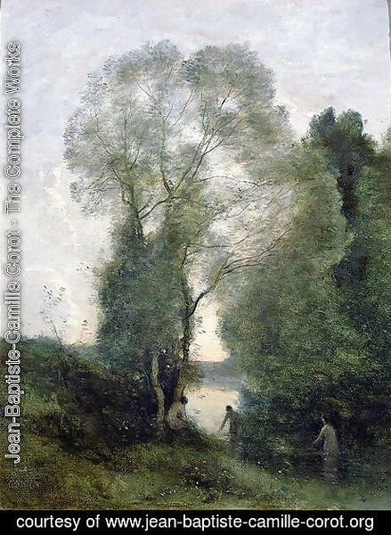 Jean-Baptiste-Camille Corot - Les Baigneuses