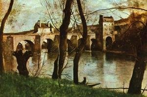 Jean-Baptiste-Camille Corot - The Bridge at Mantes