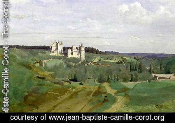 Jean-Baptiste-Camille Corot - View of the Chateau de Pierrefonds, c.1840-45