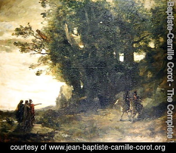 Jean-Baptiste-Camille Corot - Macbeth and the Witches, 1858-59