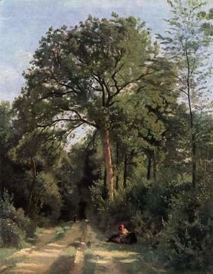 Jean-Baptiste-Camille Corot - Ville d'Avray (Entrance to the Wood), c.1823-25