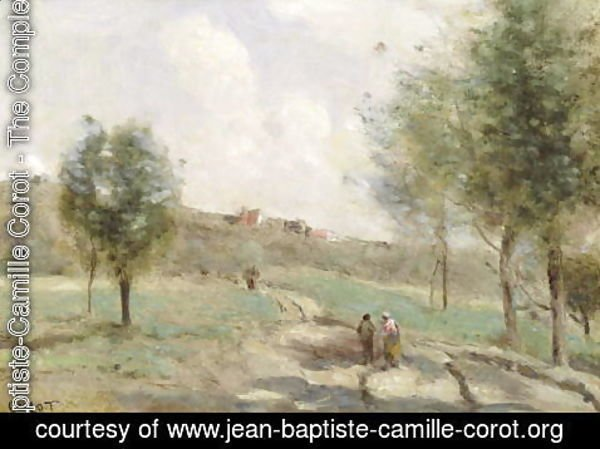 Jean-Baptiste-Camille Corot - Coubro: Ascending Path