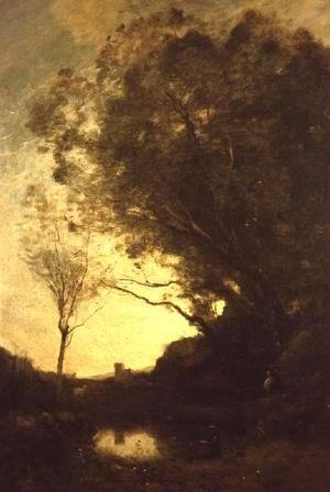Jean-Baptiste-Camille Corot - The Evening