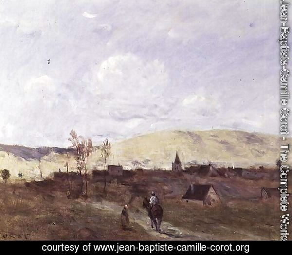 Cavalier in sight of a Village, 1872