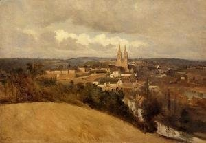Jean-Baptiste-Camille Corot - General View of the Town of Saint-Lo, c.1833