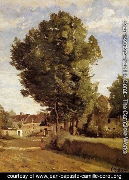 Jean-Baptiste-Camille Corot - Outskirts of a village near Beauvais, c.1850