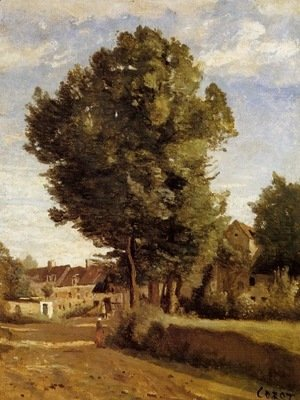 Outskirts of a village near Beauvais, c.1850
