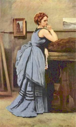 Jean-Baptiste-Camille Corot - The Woman in Blue, 1874