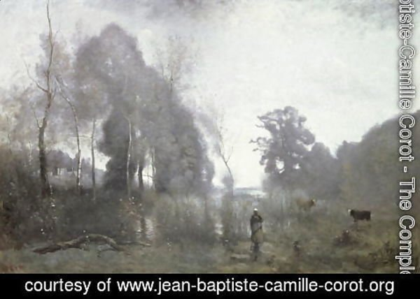 Jean-Baptiste-Camille Corot - The pond at Ville d'Avray, 1868