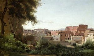 Jean-Baptiste-Camille Corot - View of the Colosseum from the Farnese Gardens, 1826