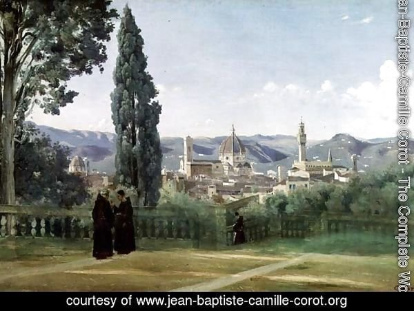 View of Florence from the Boboli Gardens, c.1834-36