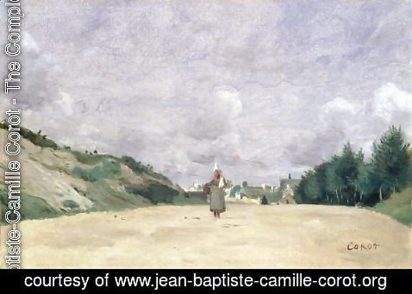 Jean-Baptiste-Camille Corot - A Road in Normandy, c.1860-65