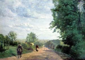 Jean-Baptiste-Camille Corot - The Road to Sevres, 1858-59