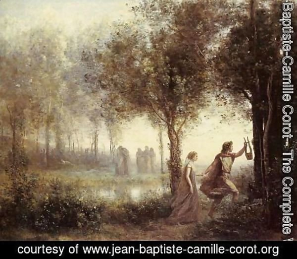 Jean-Baptiste-Camille Corot - Orpheus Leading Eurydice from the Underworld, 1861