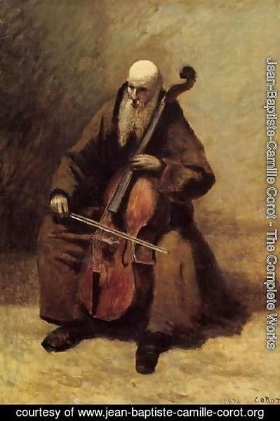 Jean-Baptiste-Camille Corot - The Monk, 1874