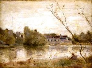 Jean-Baptiste-Camille Corot - The Pond from the Villa d'Avray, 1865
