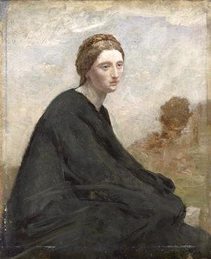 Jean-Baptiste-Camille Corot - The brooding girl, c.1857