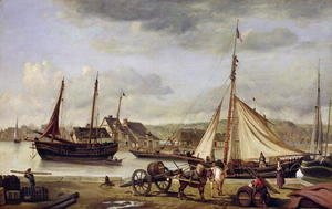 The Merchant's Quay at Rouen, 1834