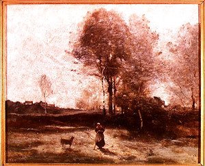 Jean-Baptiste-Camille Corot - Landscape or, Morning in the Field