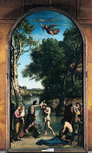 Jean-Baptiste-Camille Corot - The Baptism of Christ, 1845-47
